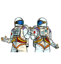 two astronaut friends vector image