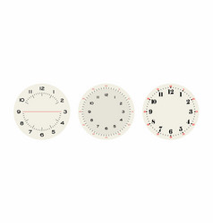 universal set 2 classic dials for wall height vector image