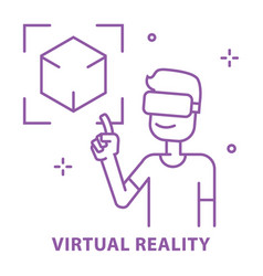 virtual reality vr concept use in learning vector image