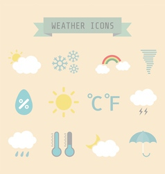 Weatherretro vector