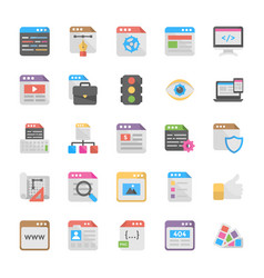 Web design flat icons vector