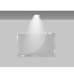 White frames in art gallery vector image vector image
