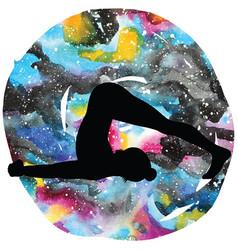 women silhouette plow yoga pose halasana vector image