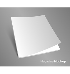 3D blank brochure cover on gray vector image