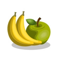 banana and apple fresh vector image