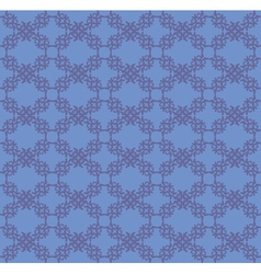 Blue flourish pattern background vector image vector image