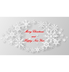 Christmas snowflake on paper vector image vector image