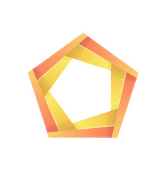 colorful pentagon abstract icon template vector image vector image