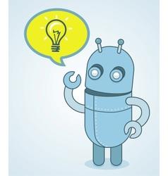 cute robot - idea concept vector image