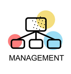 flow chart icon for management on white background vector image