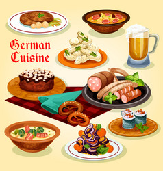 german cuisine national dishes cartoon icon vector image vector image