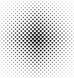Monochrome heart pattern background design vector