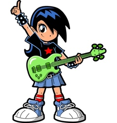 Anime Manga Girl Rock Star vector image vector image