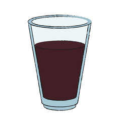 cola soda drink in glass cup vector image