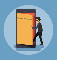 cyber security and crime concept vector image