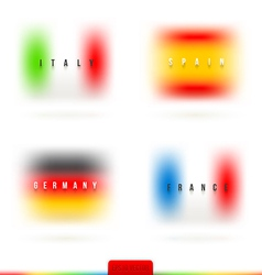 European flags with country name vector image vector image