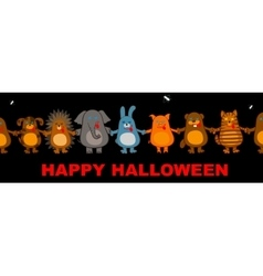 funny halloween animals vector image vector image