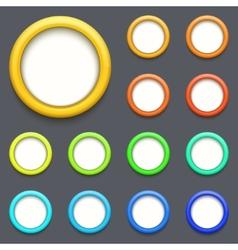Modern colorful circle button set vector