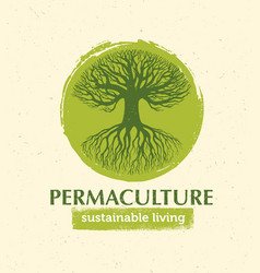 permaculture sustainable living creative vector image vector image