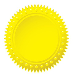 Wax gold seal vector image