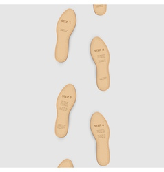 Step by step to success vector image