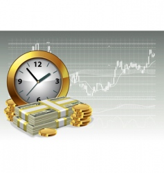 time is money concept vector image