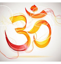 Abstract colorful OM sign vector image vector image