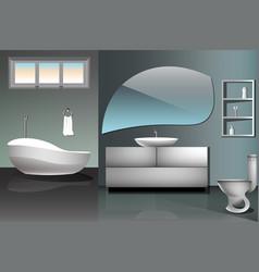 modern bathroom interior design flat vector image