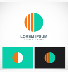 round line abstract company logo vector image