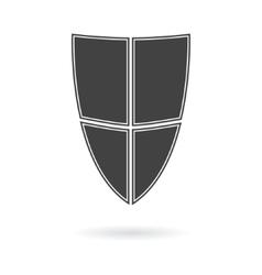shield icon logo vector image