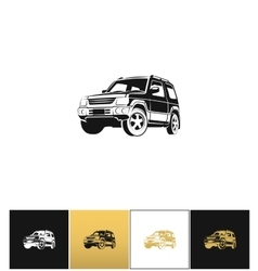 SUV car icon vector image vector image