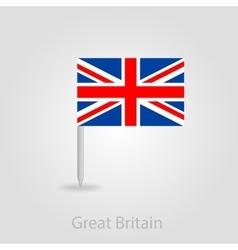 United Kingdom flag pin map icon vector image