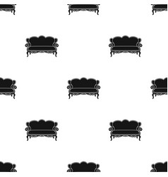 vintage sofa icon in black style isolated on white vector image vector image