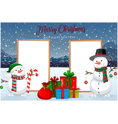 a christmas card template vector image