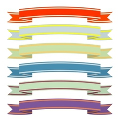 A set of ribbons vector image