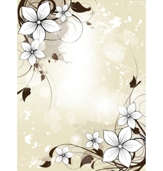 Abstract floral spring background with flowers vector