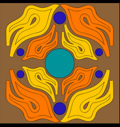 Abstract ornament of flame tongues orange and vector