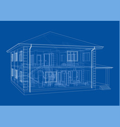abstract sketch a house vector image