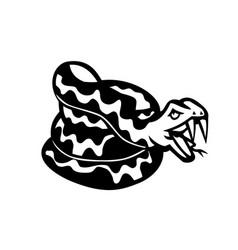 Aggressive coiled snake viper or python mascot vector