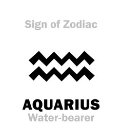 astrology sign of zodiac aquarius the vector image