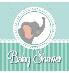 Baby Shower elephant Pastel design vector