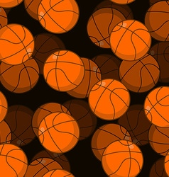 Basketball 3D seamless pattern Sports accessory vector