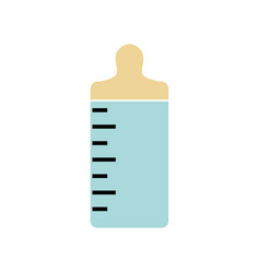 bottle baby isolated icon vector image