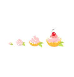 cakes sizes dessert reward pastry fancy cake vector image