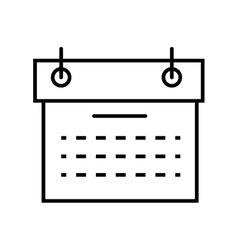 calendar planner schedule vector image