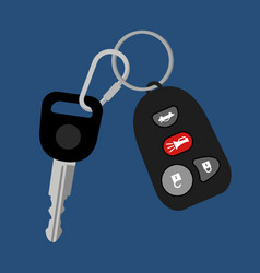 Car key with auto access padlock vector