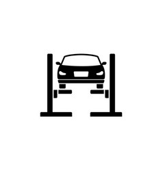 car lift filled car service flat icon vector image