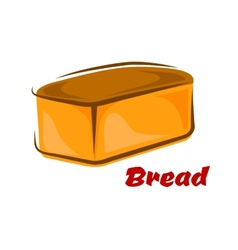 Cartoon loaf of white wheat bread vector