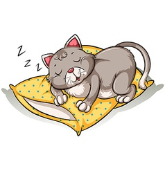 Cat taking a nap vector
