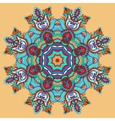 circular decorative geometric pattern for yoga vector image